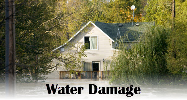 picture of a water damaged home